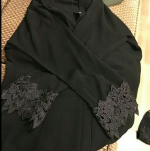  Heavy Bead Embroidered black abaya dressBoutique for sale